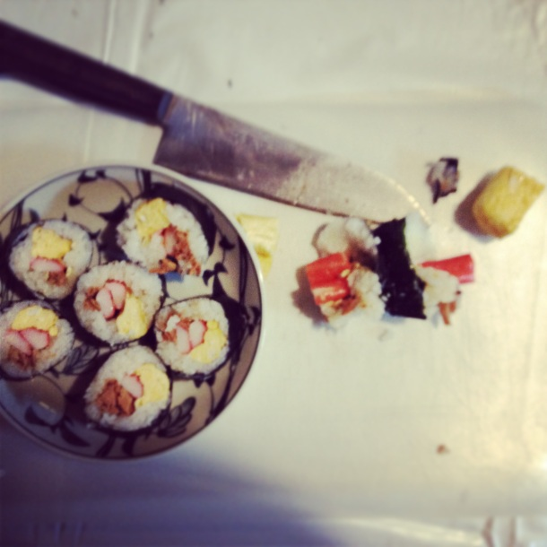I can make sushi, I just can't cut it...
